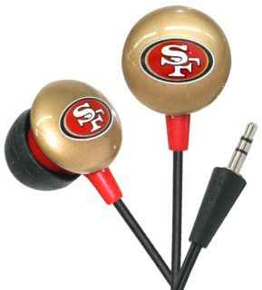 iHip NFL Officially Licensed in Ear Bud Headphones San Francisco 49ers