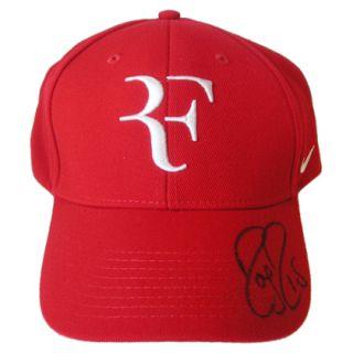 Roger Federer Signed Baseball Cap St Mungo's Woolly Hat Day