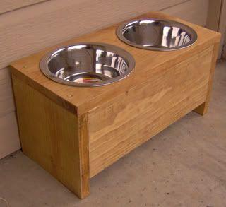 New 8 Wood Elevated Pet Dog Feeder Raised Bowl 8 Inch