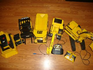 Boy Lot Cat Toy Bull Dozer Excavator Forklift Dump Truck Vehicle