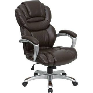 Flash Furniture Brown Leather Executive Office Chair with Leather