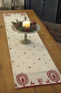HERITAGE LACE FELICITY TABLE RUNNER   14x60   SCANDINAVIAN CHRISTMAS