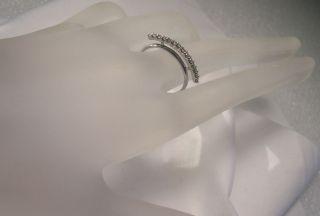 Unique Anniversary 14k White Gold Diamond Ring 14 Diamonds Estate