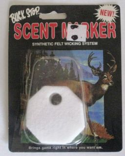 Deer Scent Marker Synthetic Felt Wicking System Four Markers Buck Stop