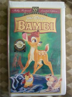 Walt Disney Bambi 55th Anniversary Limited Edition Video SEALED Free