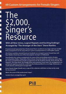 2000 Singer Resource for Female Vocal Jazz Sheet Music Lyrics 69 Songs