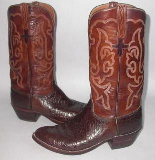 Vintage Lucchese Exotic Alligator Belly Cowboy Western Boots 10 E Mint