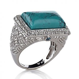 Jewelry Rings Gemstone Victoria Wieck East/West Turquoise and Gem