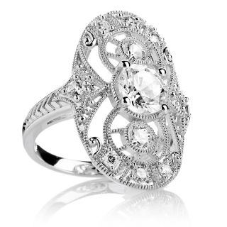 226 682 absolute 2 12ct sterling silver open filigree oval shield ring
