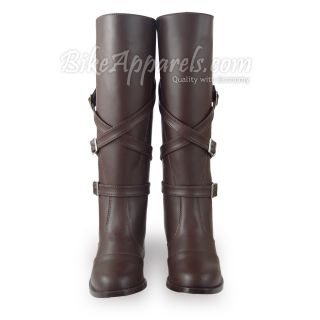 Hispar GD Men Fashion Equestrian Riding Buckle Boots