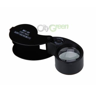 New 40x 25mm LED Jeweler Eye Loupe Loop Magnifying Glass Magnifier