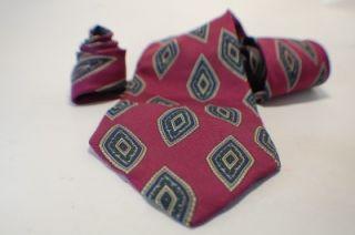 Ferrell Reed Tie Dark Pink Purple Geometric Pattern