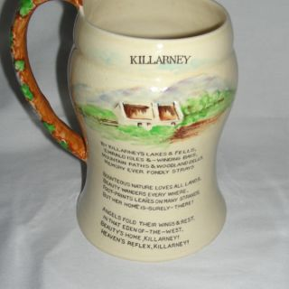 Carlton Ware Fielding Musical Mug Stein Irish Jaunting Car Killarney