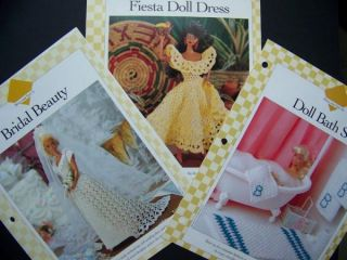 Doll Wedding Bridal Gown Bath Set Fiesta Dress Crochet Patterns