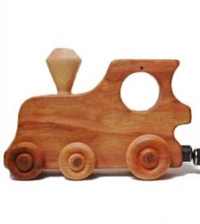 Natural Safe Handcrafted Baby Wooden Toy Train New