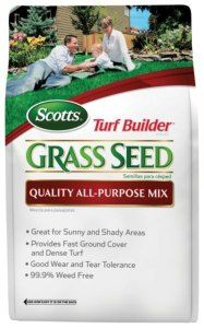 Scotts Turf Blend 20 lb Fertilizer Grass Seed Fast Ground Cover Herb