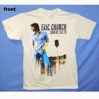Eric Church Sinners Like Me Pic Tan T Shirt Large New