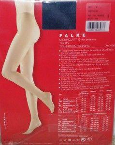 xoxo falke shimmery glossy shiny stw pantyhose tights m