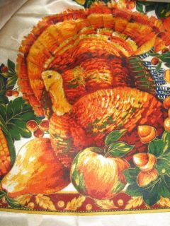 Harvest Splendor Fall Autumn Thanksgiving Tablecloth 60 x 84 Turkey