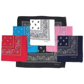 Bandanas Western 22 Paisley Print Cotton Fabric Bandana Face Scarves