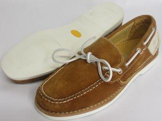 Ernest Hemingway Mens Sz 10 Traverse Suede Boat Shoes Cognac Brown New