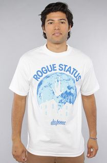 DTA   Rogue Status The All Falls Down Tee in White Blue  Karmaloop