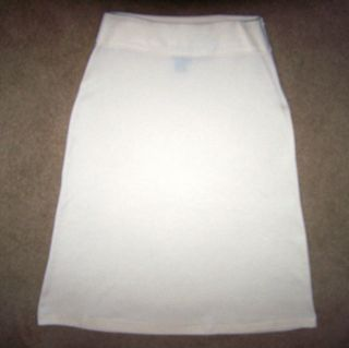 Ralph Lauren Flared Ivory Winter White Wool Blend Skirt S