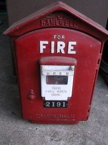 VINTAGE GAMEWELL FIRE ALARM BOX Antique Alarm box 2191 Pomona CA
