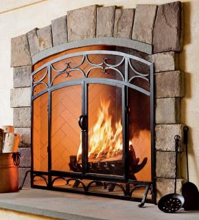 Spark Open Fire Guard Fire Place Screen Coal Wood Burning Stove