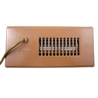 Cyclone Automatic Register Booster Fan Brown 4x10 Heat AC Air Flow