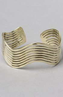 Accessories Boutique The Wave Cuff Bracelet in Gold