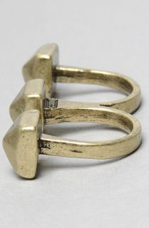 Soho Collection Industrial Chic Two Finger Ring