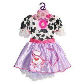 New Fancy Nancy Poodle Dress Costume Cow Child 4 6X 3 Pretend Party