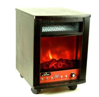 Iliving 1500 w Electric Infrared Portable Fireplace Heater Remote