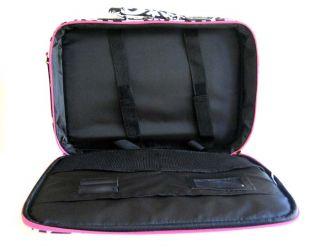 /Laptop Briefcase Bag Padded Travel Luggage Case Damask/Floral Pink