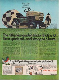 S8 Garden Lawn Tractor Mower Magazine Ad Ranch Farm Ad Vtg A931