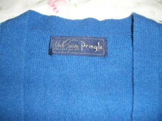 Vintage 80s Pringle Nick Faldo Collection Wool Golf Sweater Vest Sz L