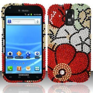 Galaxy s II 2 Crystal Bling Case Phone Cover Fall Flowers