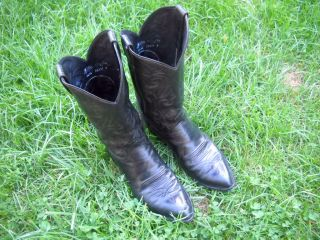 Justin 9 1 2 D Cowboy Boots Black