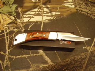 Master Knives Pakkawood Folding Lockback Knife 3 Closed P N yd 8085W