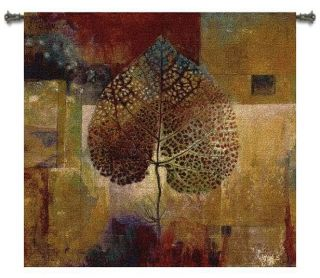 ABSTRACT FALL COLORS LEAVES AUTUMN ART TAPESTRY WALL HANGING SMALL
