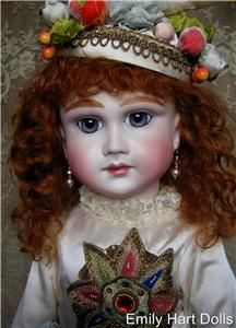 Schmitt Fils Antique Reproduction Bisque French BEBE Jester Doll Emily