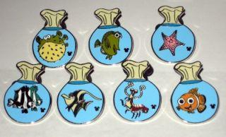 Finding Nemo Fish Bag Hidden Mickey Disney 7 Pin Set