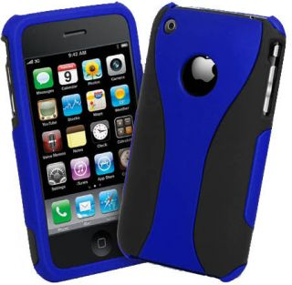 Blue 3 Piece Hard Case Cover for Apple iPhone 3G 3GS 3