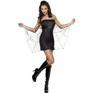 Womens Halloween Black Widow Spider Fancy Dress Costume x Small XS 4 6