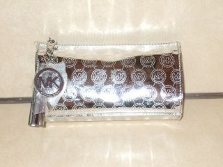 Silver Estee Lauder Michael Kors Makeup Purse Bag