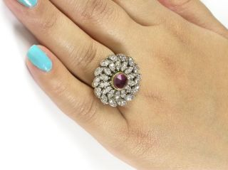 Gold Tone CZ Ad Victorian Adjustable Finger Ring Jewelry EHS