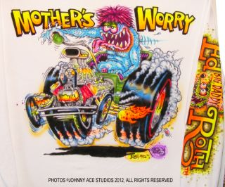 Johnny Ace Art Airbrushed T Shirt Rat Fink Ed Big Daddy Roth Mothers