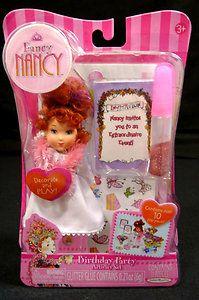 Fancy Nancy Doll Birthday Party Playset Mini Activity Set New