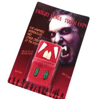 Custom Fit Bloody Vampire Fangs Teeth Tooth Caps Halloween Costume